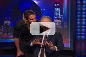 VIDEO: Seth Rollins Crashes THE DAILY SHOW WITH JON STEWART