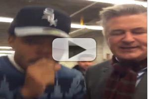 VIDEO: Alec Baldwin Teams with Chance on Freestyle Beatboxing Rap