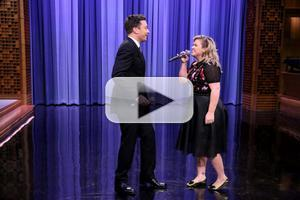 VIDEO: Kelly Clarkson & Jimmy Fallon Perform a History of Duets on TONIGHT
