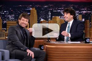 VIDEO: Hugh Jackman Rocks a Mullet, Plays Musical Beers on TONIGHT SHOW!