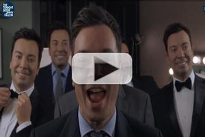 VIDEO: Jimmy Sings 'Barbara Ann' with 5 Wax Jimmys on TONIGHT SHOW!