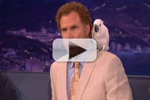 VIDEO: CONAN Learns Not to Ask Will Ferrell About Professor Feathers!