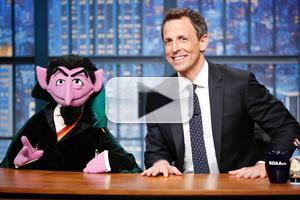 VIDEO: Seth Stumps The Count on LATE NIGHT
