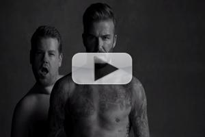 VIDEO: David Beckham & James Corden Unveil New Underwear Line on LATE LATE SHOW