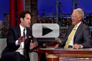 VIDEO: Paul Rudd Reveals He Was a Member of the 'David Letterman Fan Club'