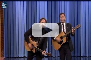 VIDEO: Jimmy Fallon and Russell Crowe Sing Protest Song 'Balls In Your Mouth' on TONIGHT!