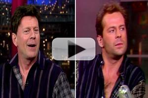 VIDEO: Bruce Willis Brings Back His 1985 Hair on LETTERMAN