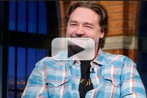 VIDEO: Russell Crowe Talks New Film 'The Water Diviner' on LATE NIGHT