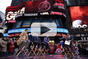 VIDEO: Cast of AGE OF ULTRON Take Over Times Square!