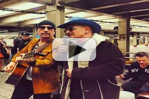 VIDEO: Bono & U2 Give Surprise Performance on New York City Subway Platform!