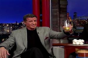 VIDEO: Sylvester Stallone Takes on ROCKY Egg Challenge on Letterman!