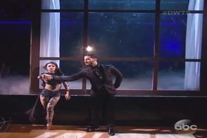 VIDEO: Janel Parrish Dances 'Pretty Little Liars'-Themed Waltz on DWTS