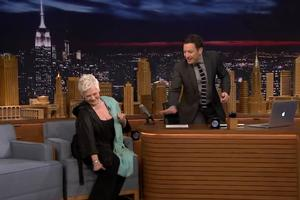 VIDEO: Judi Dench Teaches Jimmy a Bollywood Dance Move on TONIGHT