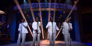 VIDEO: James Corden & Boyz II Men Wrap Up SUPER BOWL with Original Song, 'End of the Road'