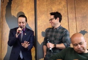 STAGE TUBE: STAR WARS Director J.J. Abrams Joins Lin-Manuel Miranda for Cantina Performance at #Ham4Ham