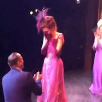 STAGE TUBE: A Broadway Romance- GIGI Cast Member Ashley Yeater Gets a Surprise Proposal Onstage!