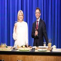 VIDEO: Martha Stewart & Seth Make S'mores & More on LATE NIGHT