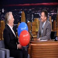 VIDEO: Alan Rickman Sucks Helium; Talks Pranking Daniel Radcliffe & More on TONIGHT