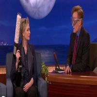 VIDEO: Jane Lynch Plays 'Popped Quiz' With Conan & Andy Richter