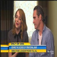 VIDEO: Emma Stone, Joaquin Phoenix Talk New Woody Allen Film 'Irrational Man' on GMA