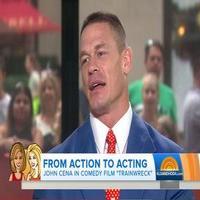 VIDEO: WWE Champ John Cena Filming 'Awkward' Scenes in New Film TRAINWRECK