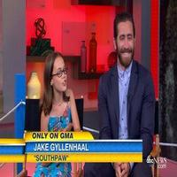 VIDEO: Jake Gyllenhaal & MATILDA's Oona Laurence Talk New Film 'Southpaw'