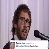 VIDEO: Josh Groban Sings Memorable Donald Trump Tweets on JIMMY KIMMEL