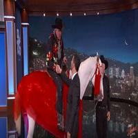 VIDEO: Gary Busey Makes DWTS Announcement on Horseback on 'Jimmy Kimmel'