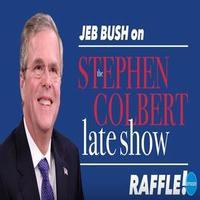 VIDEO: Stephen Colbert Mocks Jeb Bush's Ticket Raffle with Raffle of His Own!
