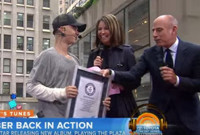 VIDEO: TODAY's Matt Lauer Presents Justin Bieber With Special Award