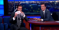VIDEO: Jake Gyllenhaal Responds to Amy Schumer's Cake Thievery on COLBERT