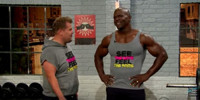VIDEO: James Corden Lifts & Grunts with Terry Crews on LATE LATE SHOW