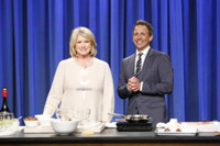 VIDEO: Seth Makes Appetizers with Martha Stewart on LATE NIGHT
