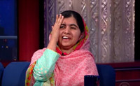 VIDEO: Nobel Peace Prize Winner Malala Yousafzai & Stephen Colbert Do Card Tricks