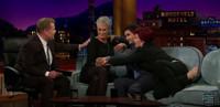 VIDEO: Jamie Lee Curtis, Sharon Osbourne & Elyes Gabel Get Touchy Feely on JAMES CORDEN