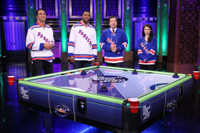 VIDEO: Michael Strahan, Eve Hewson & Tony Gonzalez Face Off in Air Hockey on TONIGHT