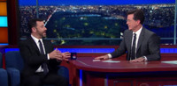 VIDEO: No Late Night Feud Here! Jimmy Kimmel Visits LATE SHOW WITH STEPHEN COLBERT