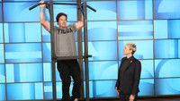 VIDEO: Hunky Mark Wahlberg Does Push-Ups for Charity on ELLEN