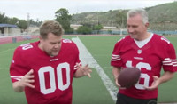 VIDEO: James Corden Recreates 'The Catch' with Joe Montana