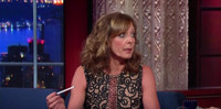 VIDEO: Allison Janney Acts Out Lyrics to Foreigner's 'Hot Blooded' on LATE SHOW