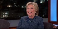 VIDEO: Hillary Clinton Talks Busy Day of Campaigning on JIMMY KIMMEL