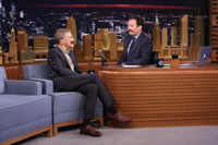 VIDEO: Christoph Waltz & Jimmy Fallon Kick Off 'Movember' with Makeshift Mustaches