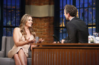 VIDEO: Elizabeth Hurley Talks New Season of THE ROYALS on 'Late Night'