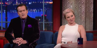 VIDEO: Bruce Campbell and Lucy Lawless Talks 'Ash vs Evil Dead' on LATE SHOW