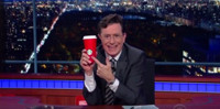 VIDEO: Stephen Colbert Takes On Starbuck's Bland Red & Green Coffee Cups