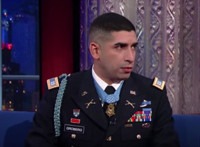 VIDEO: Medal of Honor Recipient Florent Groberg Visits LATE SHOW