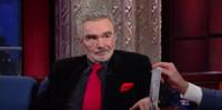 VIDEO: Burt Reynolds Talks Bromance with Johnny Carson on COLBERT