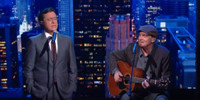 VIDEO: James Taylor & Stephen Colbert Perform Updated Version of 'Fire and Rain'