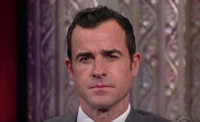 VIDEO: Stephen Colbert Challenges Justin Theroux to Eyebrow-Acting Contest