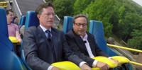 VIDEO: Stephen Colbert Gets A 'Moby Dick' Lesson On a Rollercoaster